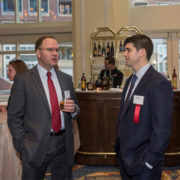(L to R): Justin Wolosz, Mass. Appleseed Board Member, Choate Hall & Stewart LLP, and Chris Hoyle, Mass. Appleseed Board Member, StoneTurn Group LLP