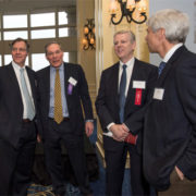 (L to R): Mark Borden, Co-Chair, WilmerHale; Good Apple Awardee Jeff Carp, State Street; Dan Halston, Co-Chair, WilmerHale; Jay Bothwick, WilmerHale