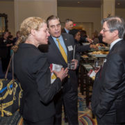 (L to R): Sara Shanahan, Mass. Appleseed Board Member, Sherin and Lodgen LLP; Bob Keefe, WilmerHale; Luigi De Ghenghi, Co-Chair, Davis Polk & Wardwell LLP