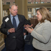 (L to R): Mike Collora, Mass. Appleseed Advisory Board Member, Collora LLP and Kristen Graves, Mass. Appleseed Board Member, Committee for Public Counsel Services