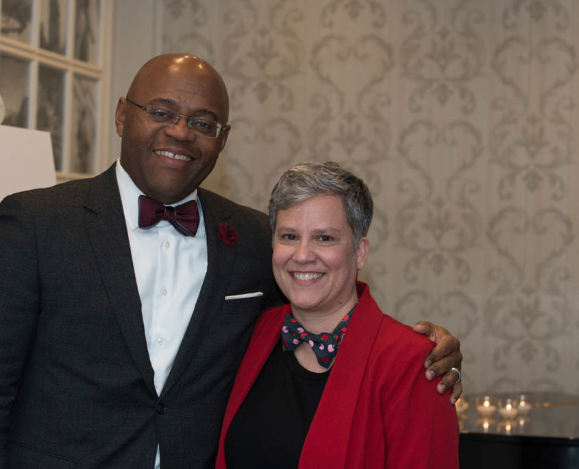 "Senator William ""Mo"" Cowan (GE) and Deborah Silva, Executive Director (Massachusetts Appleseed)"